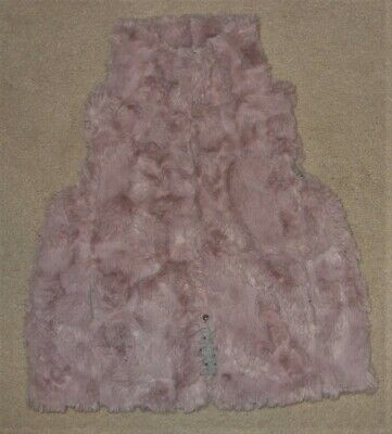 Next Pink High Neck Faux Fur Gilet Jacket Size Age 6 Years