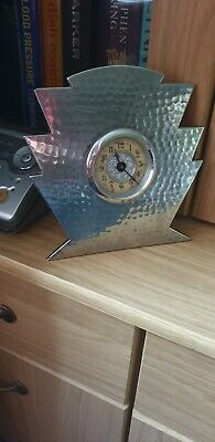 Small Art Deco Pewter Table Clock circa 1920's