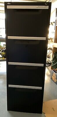 Pinnacle 4 drawer filing cabinet. Black
