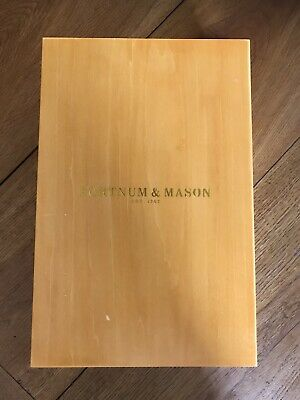 Double wooden wine box by Fortnum & Mason