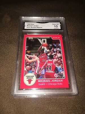 MICHAEL JORDAN 1984 STAR 101 ROOKIE REPRINT Graded 10 GEM MINT !!!!