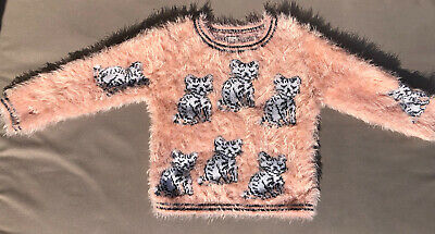 Girls Next Cat Furry Jumper Age 8