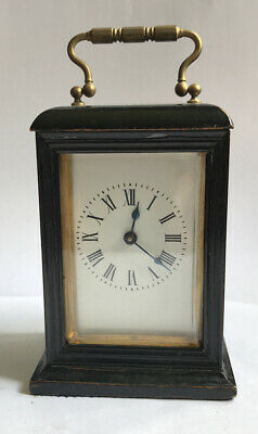 Rare Wooden Cased French carriage clock Working Order