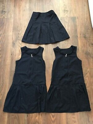 T Girls Age 7 -8 Years Navy 2 * Pinafore 1 * Skirt School Uniform