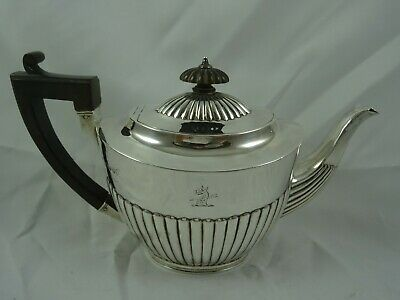 VICTORIAN silver TEA POT, 1888, 491gm