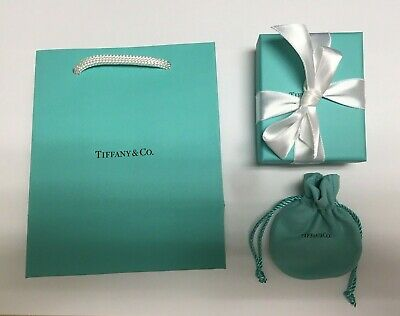 Brand New Authentic Tiffany & Co. Jewelry Gift Bag Gift Box Pouch Card Ribbon