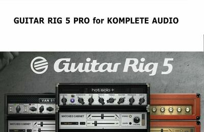Guitar Rig 5 Pro Native Instruments for Komplete Audio MK2 1 2 6
