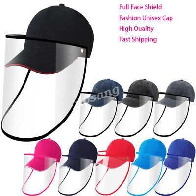 Full Face Covering Shield Anti Saliva Visor Baseball Cap Hat Protective Cover