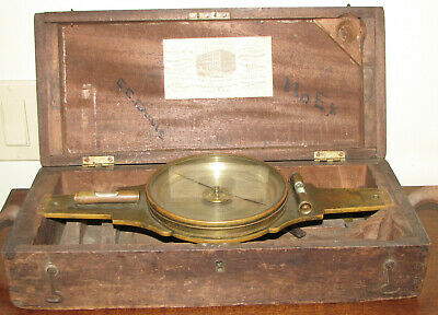 """Mid 19th Century 15"""" Surveyor's Compass by W. &. L. Gurley"""