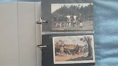 120 x Old postcards in a nice album - WW1, People, Topo, Ships, Art - UK + World