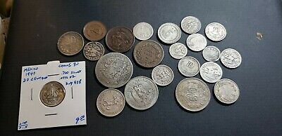 Mexico Coin Lot Most Silver