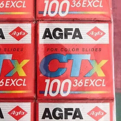 Agfa Agfachrome CT-X ISO 100 35mm Color Slide film 36 Exposures NOS Expired 1997