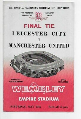 Original Programme 1963 Fa Cup Final Leicester City V Manchester United England