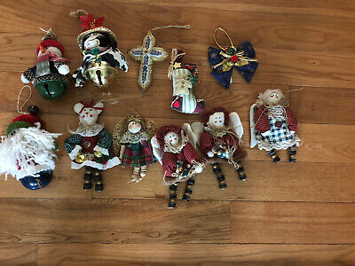 Lot Of Vintage And New Christmas Ornaments Mixed