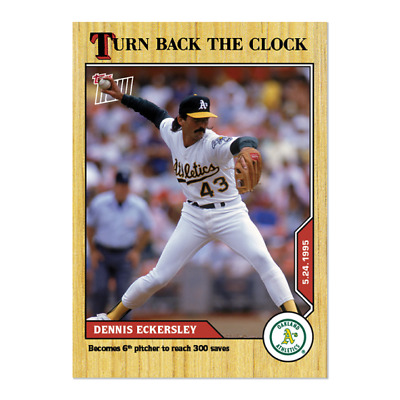 2020 MLB TOPPS NOW Turn Back The Clock Dennis Eckersley Card 55