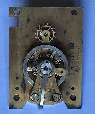 clock platform escapement has swinging balance For Spares Or Repair