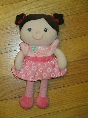 "Garanimals ""My First Doll"" Pink Plush Rattle Baby Doll/Lovey"