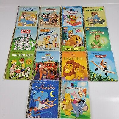 Lot Of 14 Little Golden Books Mix Of Older And Newer