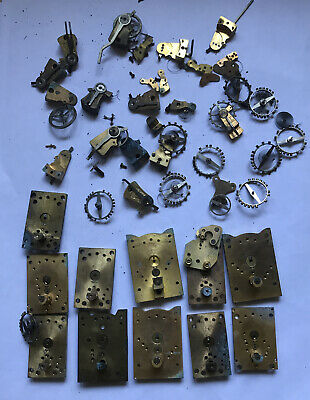 Large Collection Of clock platform escapement Parts For Spares Or Repair