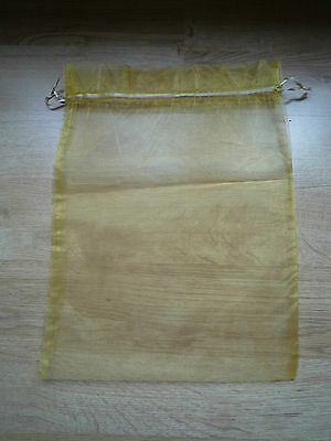 Yellow gloden silk look gift wrapping bag