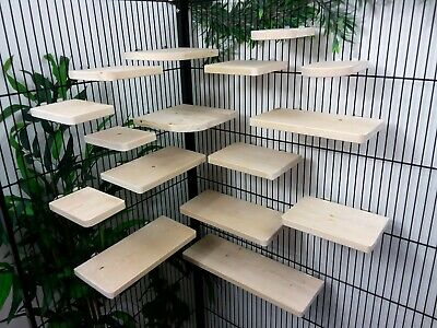 Set of 16 Pine 14.4cm deep Shelves/Ledges, Chinchilla, Degu, Rat,Cage