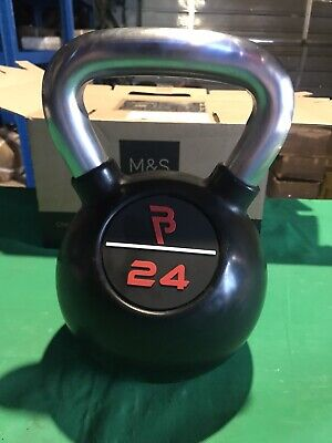 24kg Body Power Kettlebell Neoprene Cast Iron Gym Exercise Weights Home Workout