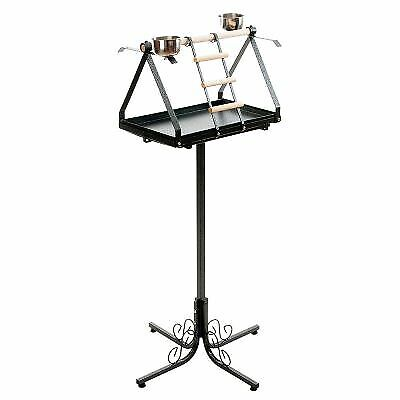 LARGE FREE STANDING PARROT STAND Play 2 FEEDING BOWS LARGE DIRT TRAY NEW