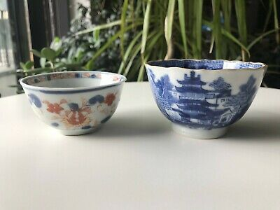 Chinese Qing Gilt Blue and White Cup & Imari Cup