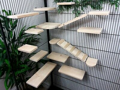 Set of 16 Pine Shelves/Ledges & Ramp/Ladders, Chinchilla, Degu, Rat,Cage