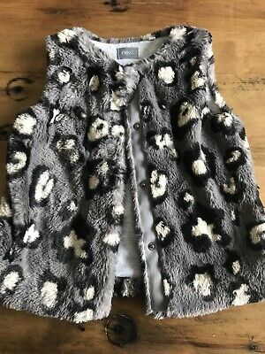 Girls Gilet Age 3-4 Years. Animal Print. Next.