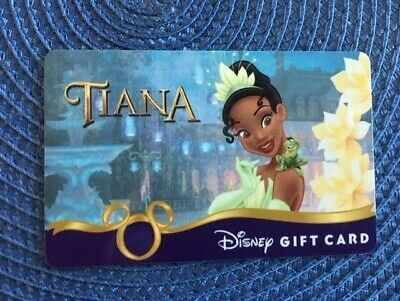 Tiana Disney gift card collectible only-  no $ value or points on it