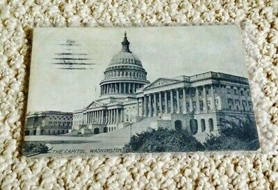 Vintage Postcard-The Capitol, Washington Dc- Postmarked 1911 - One Cent Stamp