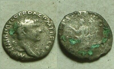 "Rare genuine Ancient Roman silver ""fouree"" Coin Trajan 100 AD denarius Aequitas"
