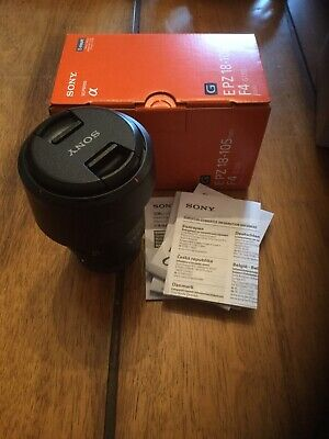 Sony E mount PZ 18-105mm f4 G OSS Lens  - APSC - boxed with caps + hood