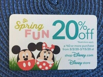 Disney 20% off gift card collectible only -no $ value or points on it