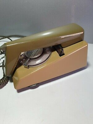 Vintage Trim Phone Two Tone Olive Green GPO BT Lovely Original Telephone 1970s