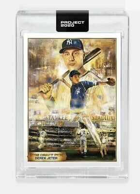 🔥 Topps PROJECT 2020 Card 82 Derek Jeter By Andrew Thiele 1993 New York Yankees