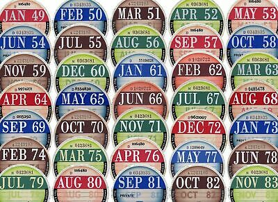 TAX DISC -OLD VINTAGE CLASSIC LICENSE -  ANY YEAR AND MONTH U WANT £1 only