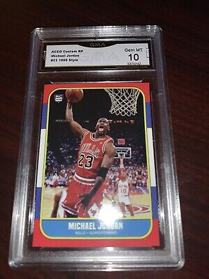 Michael Jordan 1986 Fleer Style # 23 Rookie Graded Gem Mint 10 Dunk Style