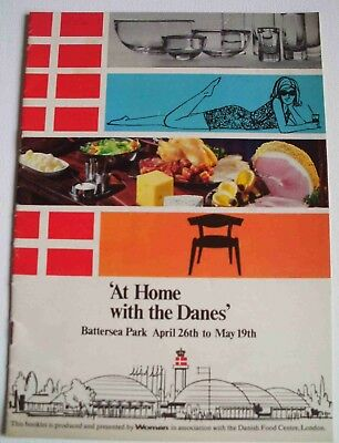 Vintage 1968 booklet At Home with the Danes - Danish food Woman magazine recipes