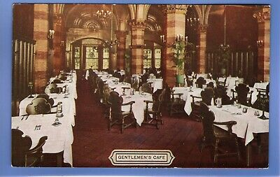 SUPER 1915c GENTLEMANS CAFE HOTEL SENECA ROCHESTER NEW YORK USA POSTCARD