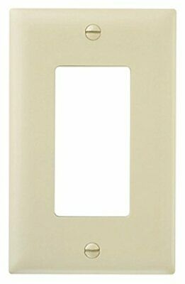 Pass and Seymour TP26-I One Gang Decorator Opening Wall Plate, Ivory, Pack of 5