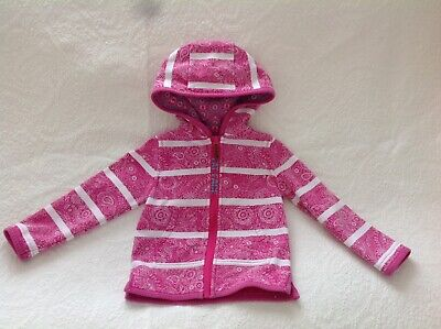 Fat Face Girls Zip Up Jacket With Hood Pink Age 4-5