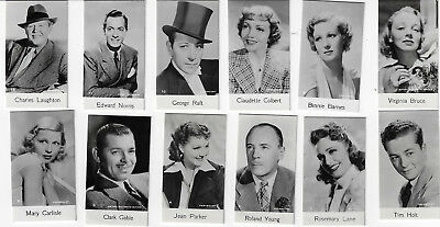 1940 Bridgewater Film Stars Complete 48 Card Set 8Th Series