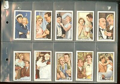 1935 Gallaher Shots From Famous Films Complete 48 Card Set