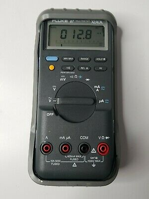 Fluke 87 Digital Multimeter with protective Carry Case No leads Calibrated