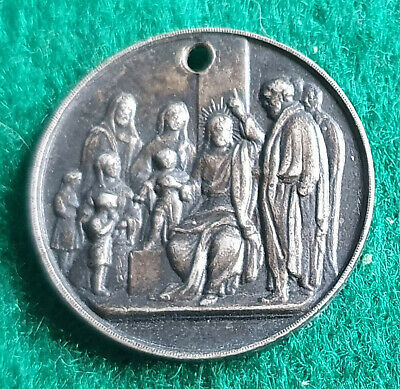 "Christs Church Alsager Sunday School Medallion ""For Full Marks"" [T163H2]"
