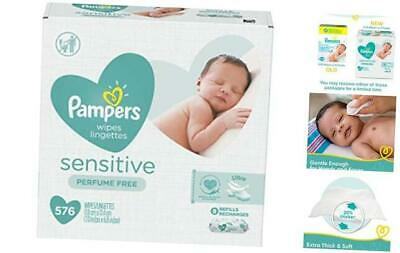 Baby Wipes, Pampers Sensitive Water Based Baby Diaper Wipes, Hypoallergenic