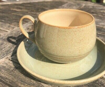 DENBY STONEWARE - Pale Beige  - tea cup and saucer