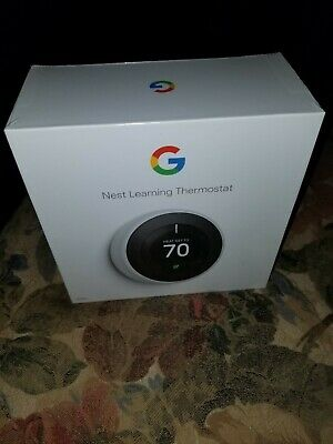 """NEW Nest GOOGLE Learning Thermostat 3rd Generation """" WHITE """" 2020 Sealed T3017US"""
